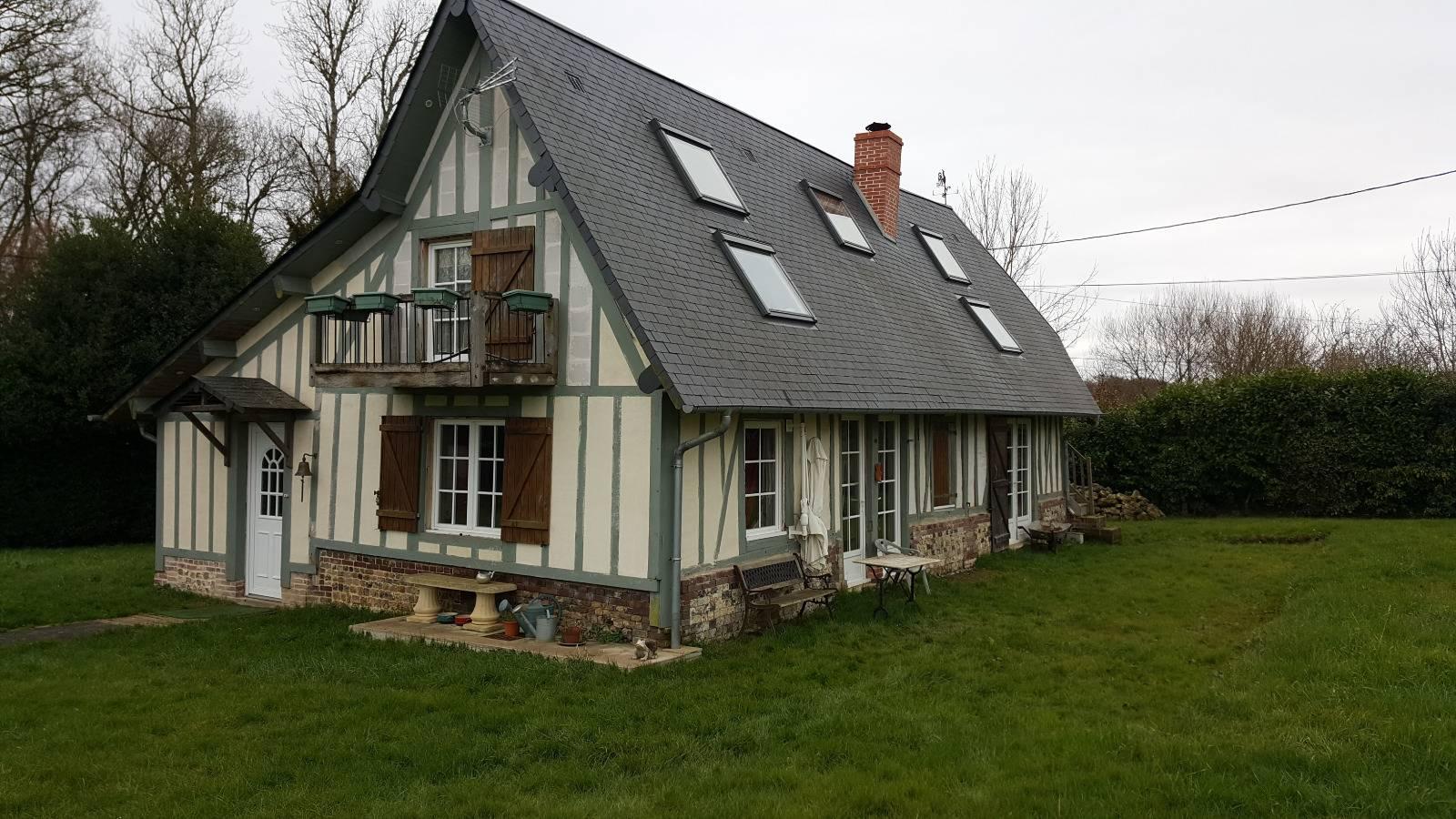maison colombage r gion pont audemer eure 27 terres et. Black Bedroom Furniture Sets. Home Design Ideas