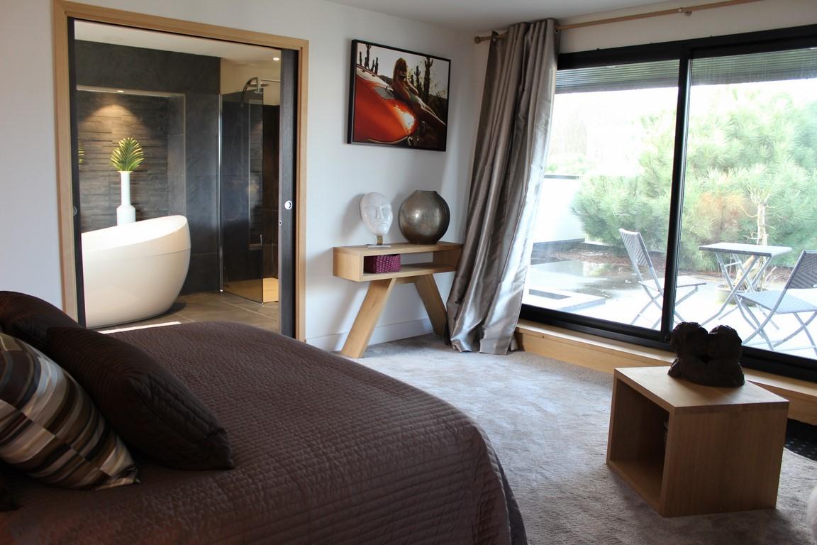 Maison contemporaine avec piscine à vendre en Normandie Calvados 14