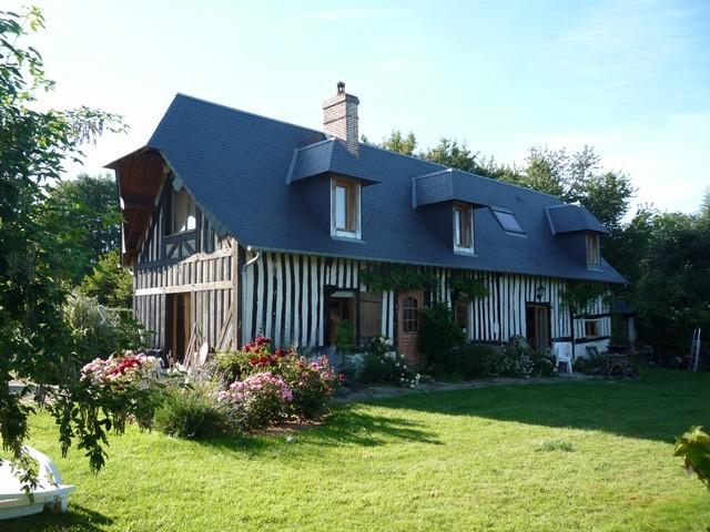 Nos biens a deauville honfleur et cabourg maison normande a vendre norman - Maison campagne normandie ...