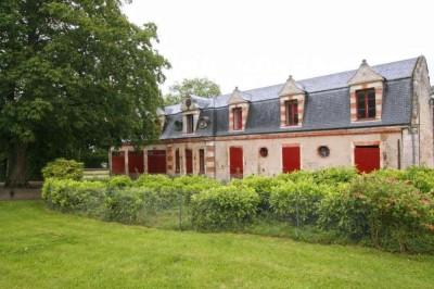 Achat Authentique Château avec 120 hectares de terres (parc, herbages, prairies, forêt et corps de ferme) en Normandie Calvados 14