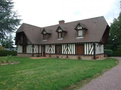 Maison de style Normand A Vendre, Normandie, Eure, Bec-Hellouin