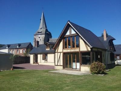 Achetez cette belle longère normande, proche de tous commerces, au calme de la campagne, en Normandie (76).