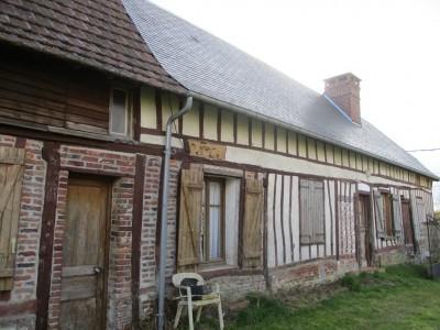 Terres et demeures de Normandie, votre agence immobilière à Dieppe vous propose cette longère à rénover