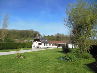 Achetez cette charmante longère lumineuse à la campagne, 3 chambres, proche de Dieppe (76) en Normandie.