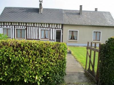 Terres et Demeures de Normandie, votre agence immobilière située à Dieppe, 76, sur la côte d'Albâtre, vous propose de découvrir cette longère, dans un petit village du pays de caux, à 23 kms de Dieppe et de la mer. Vous apprécierez son calme à 4 kilo