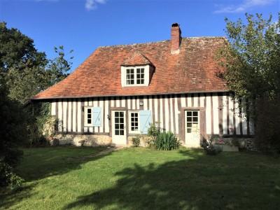 maison normande à vendre près de Deauville, agence immobilière Terres et Demeures de Normandie de Lisieux